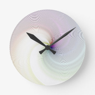 Abstract Lines 8 Round Clock