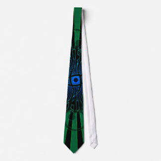 Abstract Lines and Spirals: Custom Tie