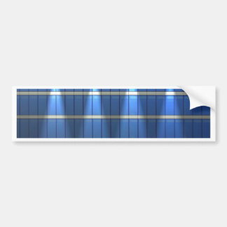 Abstract lines and stripes bumper sticker