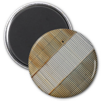 Abstract lines and stripes refrigerator magnet