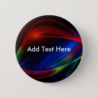 Abstract lines and waves energy pattern pinback button