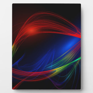 Abstract lines and waves energy pattern plaque