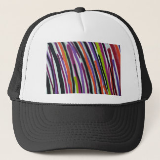 abstract lines background trucker hat