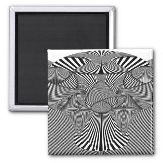 Abstract - Lines - Bad Dog Fridge Magnets