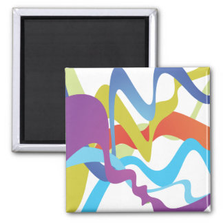 Abstract Lines Fridge Magnets
