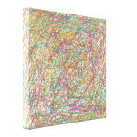 abstract lines gallery wrapped canvas