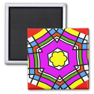 Abstract Lines of color Refrigerator Magnet
