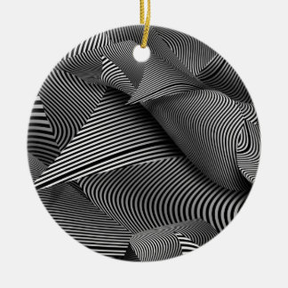 Abstract - Lines - Path to destruction Christmas Tree Ornaments