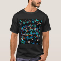 Abstract Lines Pattern T Shirt