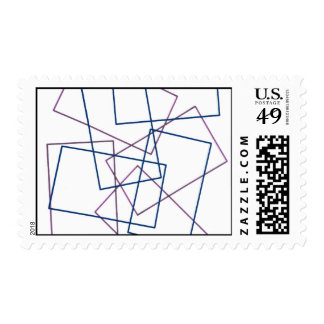 Abstract Lines Postage