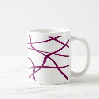 Abstract lines - Purple Mug