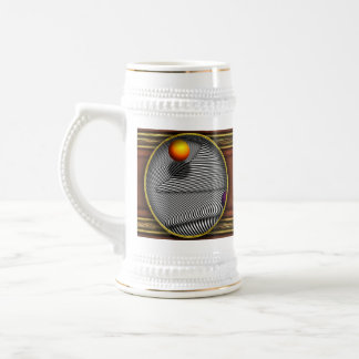 Abstract - Lines - That's a moire Beer Stein