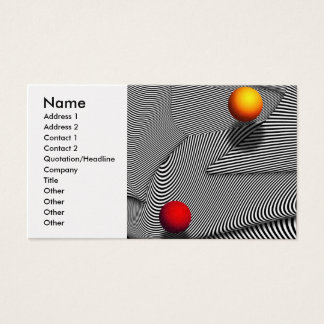 Abstract - Lines - That's a moire Business Card
