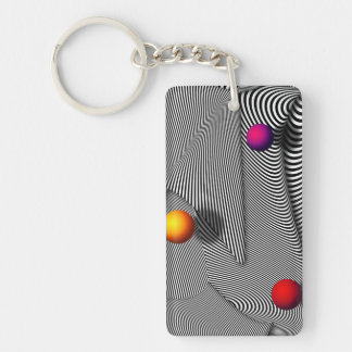 Abstract - Lines - That's a moire Keychain