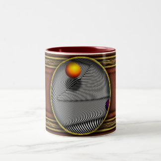 Abstract - Lines - That's a moire Two-Tone Coffee Mug