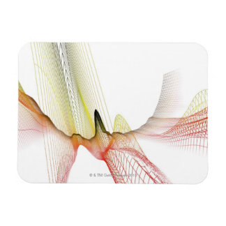 Abstract Lines Vinyl Magnet