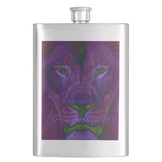 Abstract Lion Classic Flask