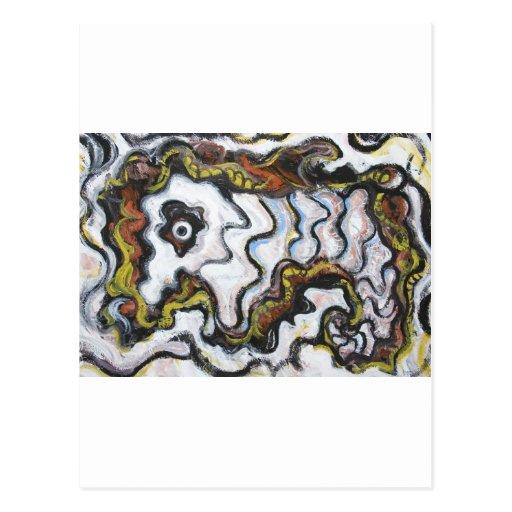 Abstract Lion Dance (animal symbolism) Postcard