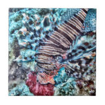 Abstract Lion Fish Small Square Tile