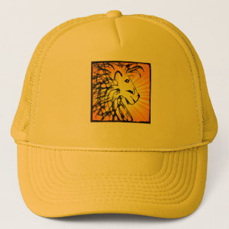 abstract lion for kathy southerton trucker hat
