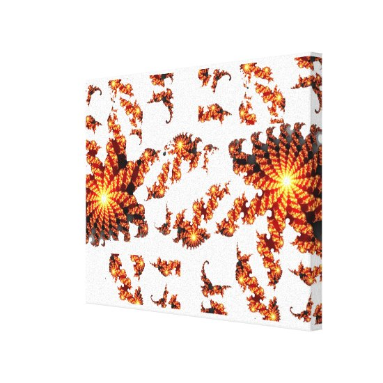 Abstract Lion Fractal Canvas Print