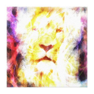 Abstract lion head painting canvas prints