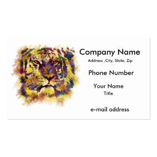 Abstract Lion Paintng Double-Sided Standard Business Cards (Pack Of 100)