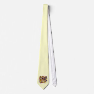 Abstract Lion Paintng Tie