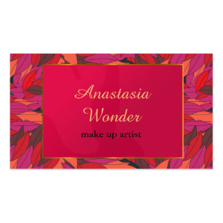Abstract lips pattern make up artist profession business card