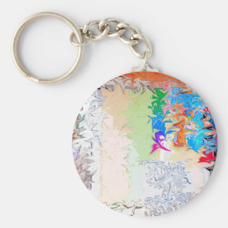 Abstract Liquid Design Keychains
