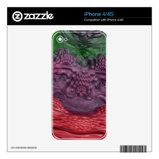 Abstract Liquid Formations: Decals For iPhone 4S