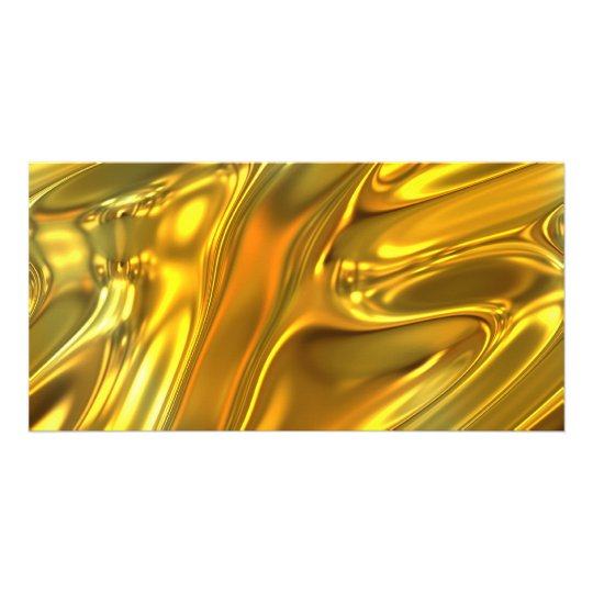 Abstract Liquid Gold Card