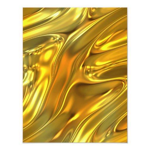 Abstract Liquid Gold Card