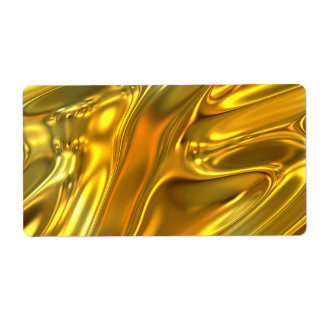 Abstract Liquid Gold Personalized Shipping Labels