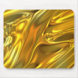 Abstract Liquid Gold Mouse Pads