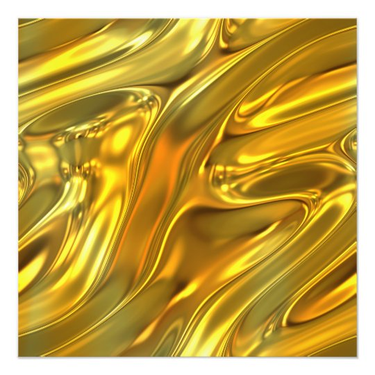 Abstract Liquid Gold Photo Print