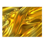 Abstract Liquid Gold Post Cards