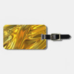 Abstract Liquid Gold Travel Bag Tags