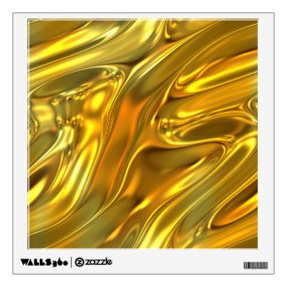 Abstract Liquid Gold Room Graphic
