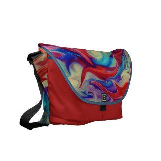 Abstract Liquid Paint Texture Messenger Bag