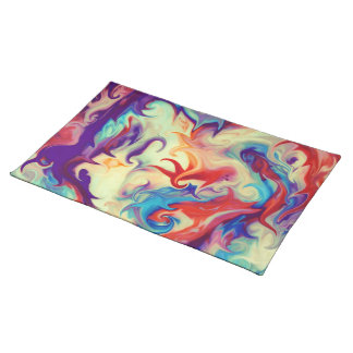 Abstract Liquid Paint Texture Placemats