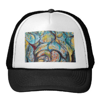Abstract Living Fossils (abstract expressionism) Trucker Hat