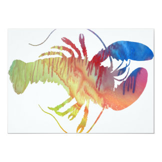 Abstract Lobster silhouette Card