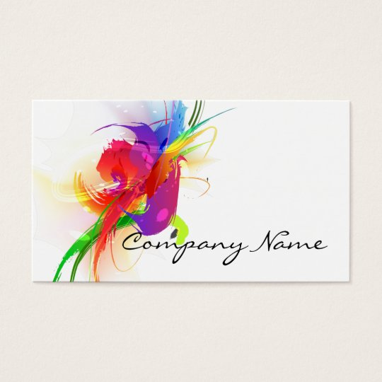 Abstract Lorikeet  Paint Splatters Business Card