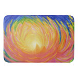 Abstract Lotus Flower Bath Mat