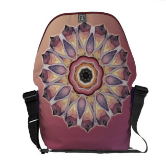 Abstract Lotus Kaleidoscope Messenger Bag