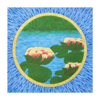 Abstract lotus Mandala Canvas Print