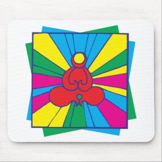 Abstract Lotus Pose Yoga Gift Mouse Pad