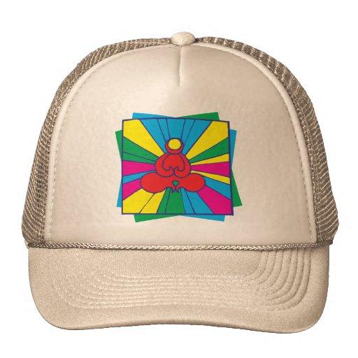 Abstract Lotus Pose Yoga Gift Trucker Hat