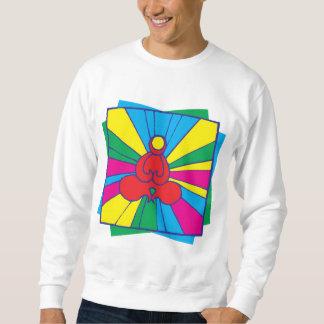 Abstract Lotus Pose Yoga T-Shirt